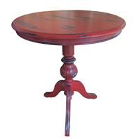 Woodenbend Wilton Eskitilmiş Kırmızı Sehpa