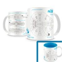 Sd Toys Star Wars: Falcon Ep7 White Blue Mug Kupa Bardak