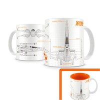 Sd Toys Star Wars: X-Wing Ep7 White Orange Mug Kupa Bardak
