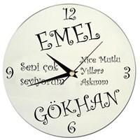 Kişiye Özel İsimli-Mesajlı Duvar Saati