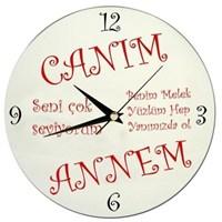 Anneye Özel Mesaj Yazılabilen Duvar Saati