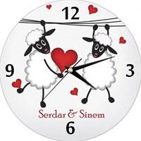 Kişiye Özel Mutlu Aşıklar Saat