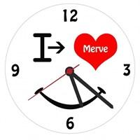 Sevgililer Gününe Özel Aşık Gülen Yüz Duvar Saati