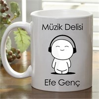 Kişiye Özel Müzik Delisi Kupa