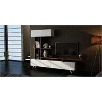 Sanal Mobilya Violet Tv Ünitesi-Beyaz/Ceviz