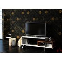 Sanal Mobilya Akel Tv Sehpası-Beyaz/Ceviz
