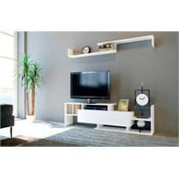 Sanal Mobilya Dream Tv Ünitesi-Beyaz