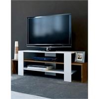 Sanal Mobilya Sole Tv Sehpası-Beyaz/Ceviz