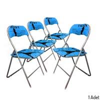 Banio Jx-18H051 Paris Mavi Katlanır Sandalye