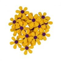 La Mia 25'Li Sarı Papatya Keçe Motifler - C203