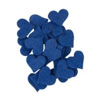 La Mia 25'Li Saks Mavi Küçük Boy Kalp Keçe Motifler - Fs307-M47