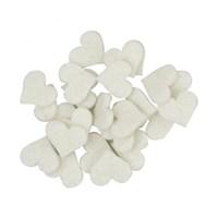 La Mia 25'Li Beyaz Küçük Boy Kalp Keçe Motifler - Fs307-M02