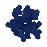 La Mia 25'Li Saks Mavi Orta Boy Kalp Keçe Motifler - Fs308-M47