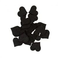 La Mia 25'Li Siyah Orta Boy Kalp Keçe Motifler - Fs308-M01