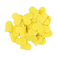 La Mia 25'Li Sarı Orta Boy Kalp Keçe Motifler - Fs308-M09