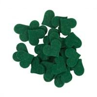 La Mia 25'Li Zümrüt Yeşil Orta Boy Kalp Keçe Motifler - Fs308-M58