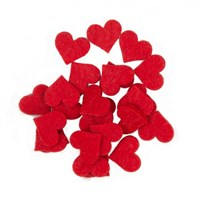 La Mia 25'Li Kırmızı Maxi Boy Kalp Keçe Motifler - Fs310-M13