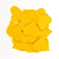 La Mia 25'Li Sarı Maxi Boy Kalp Keçe Motifler - Fs310-M09