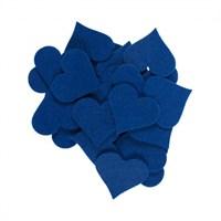 La Mia 25'Li Saks Mavi Maxi Boy Kalp Keçe Motifler - Fs310-M47