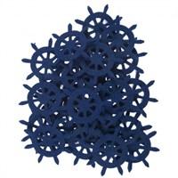 La Mia 25'Li Saks Mavi Dümen Keçe Motifler - Fs321-M47