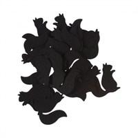 La Mia 25'Li Siyah Sincap Keçe Motifler Fs302-M01