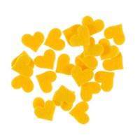 La Mia 25'Li Sarı Küçük Boy Kalp Keçe Motifler Fs307-M09