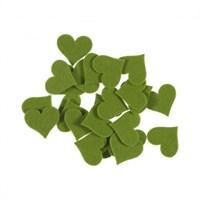 La Mia 25'Li Fıstık Yeşil Büyük Boy Kalp Keçe Motifler Fs309-M56