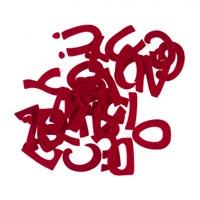 La Mia 29'Lu Kırmızı Harf Keçe Motifler M13