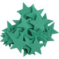 La Mia 25'Li Turkuaz Yeşil Yıldız Keçe Motifler - Fs304-M44