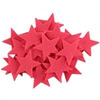 La Mia 25'Li Neon Pembe Yıldız Keçe Motifler - Fs304-M26