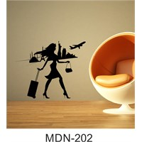I Love My Wall Modern (Mdn-202)Sticker(Baykuş Sticker Hediye!)
