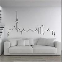 I Love My Wall Şehirler (Shr-203)Sticker(Baykuş Sticker Hediye!)