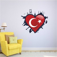 I Love My Wall Modern (Mdn-096)Sticker(Baykuş Sticker Hediye!)