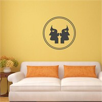 I Love My Wall İkizlersticker(Baykuş Sticker Hediye!)