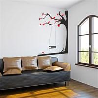 I Love My Wall Floral (F-305)Sticker(Baykuş Sticker Hediye!)