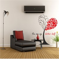 I Love My Wall Floral (F-304)Sticker(Baykuş Sticker Hediye!)