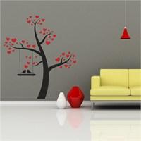 I Love My Wall Floral (F-309)Sticker(Baykuş Sticker Hediye!)