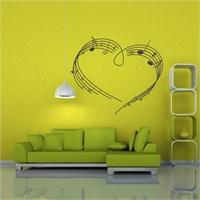 I Love My Wall Müzikal (M-031)Sticker(Baykuş Sticker Hediye!)