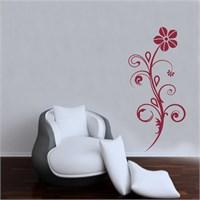 I Love My Wall Floral (F-056)Sticker(Baykuş Sticker Hediye!)
