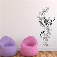 I Love My Wall Floral (F-067)Sticker(Baykuş Sticker Hediye!)