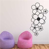 I Love My Wall Floral (F-068)Sticker(Baykuş Sticker Hediye!)