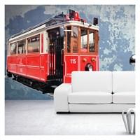 Artikel Tramvay Dev Duvar Sticker Dp-1455