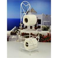 Cosiness Ferforje İki Katlı Tuvalet Kağıtlığı - Beyaz