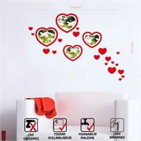 Tüyball Kırmızı Kalpli Fotoğraf Çerçevesi
