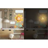 Tüyball Ayçiçekli Sticker Duvar Lambası