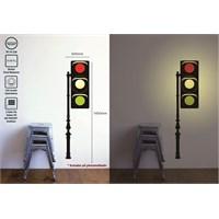 Tüyball Trafik Işıklı Sticker Duvar Lambası