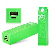 Gift Box Milk Powerbank 2600 Mah - Yeşil