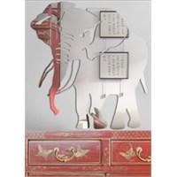 Uğurlu Fil Figürü Büyük Duvar Aynası