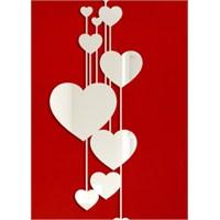 Kalplerden Sarkıtlar Kesimli Romantik Aynalar