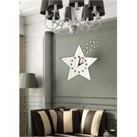 Stars Yıdızlar Dekoratif Ayna Saat